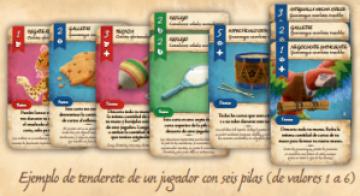 Ejemplo de zona de jugador con seis tenderetes