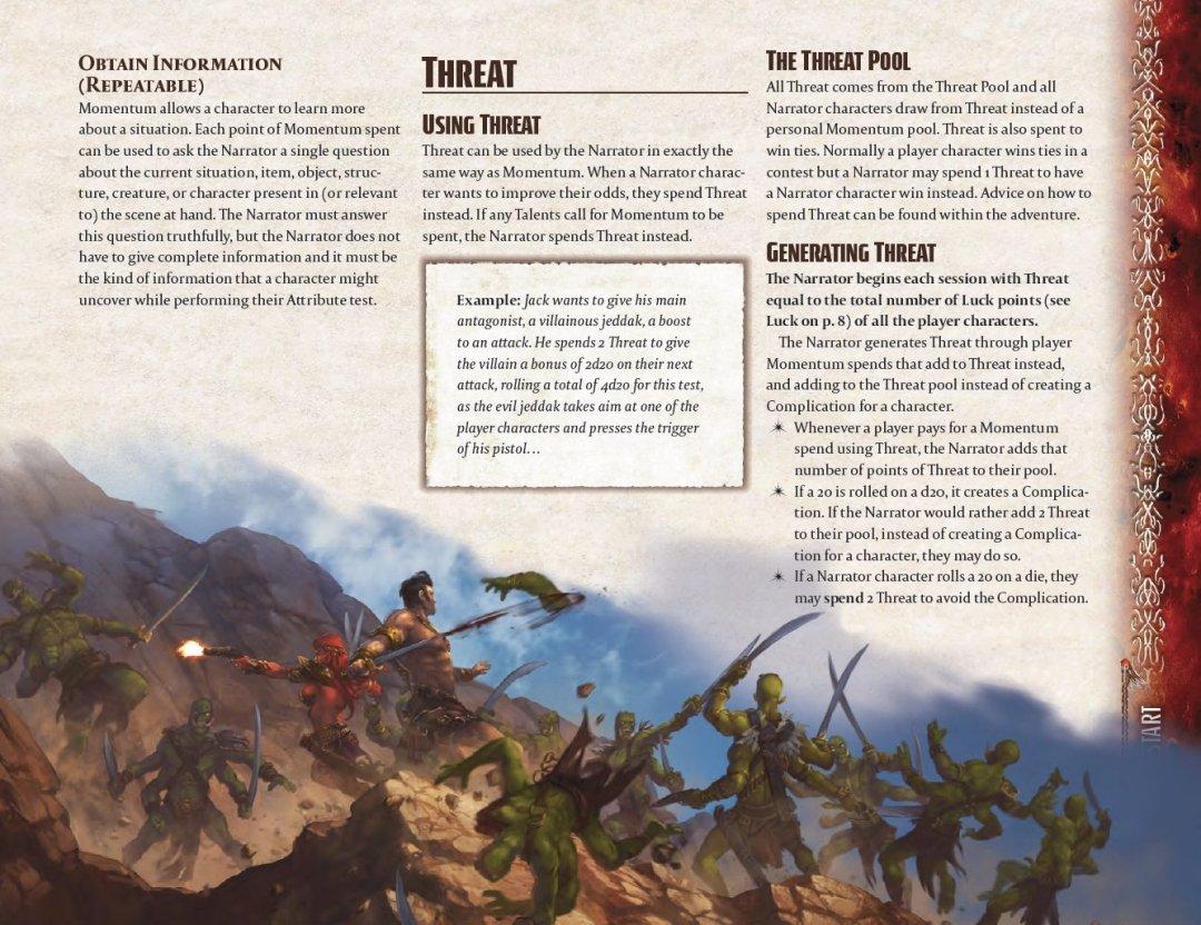 John Carter of Mars juego de rol explicación sobre la mecánica de Amenaza
