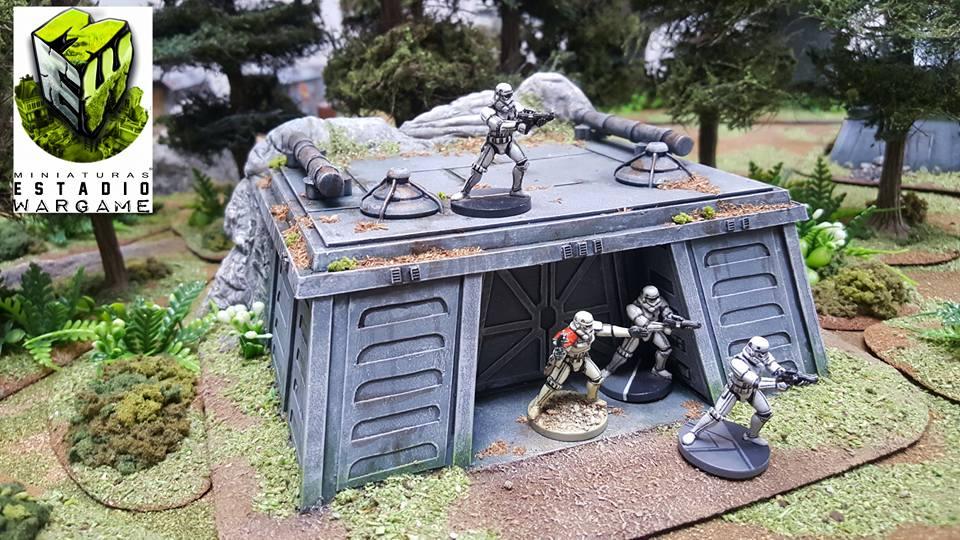 Star Wars Imperial Assault Storm Troopers con escenografía