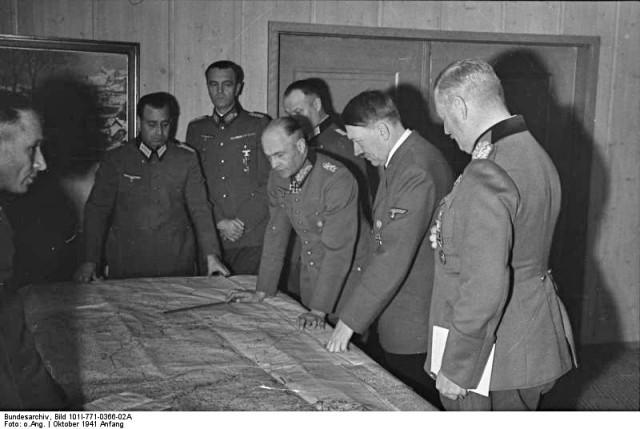 Russland, Lagebesprechung mit Hitler