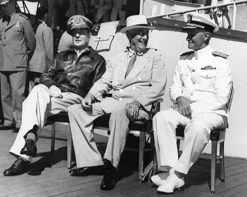 With General MacArthur and President Roosevelt