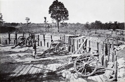 Confederate Artillery outside of Atlanta via commons.wikimedia.org