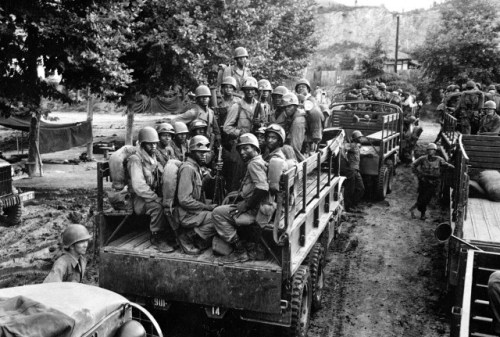 24th Infantry Regiment advancing in Korea via commons.wikimedia.org