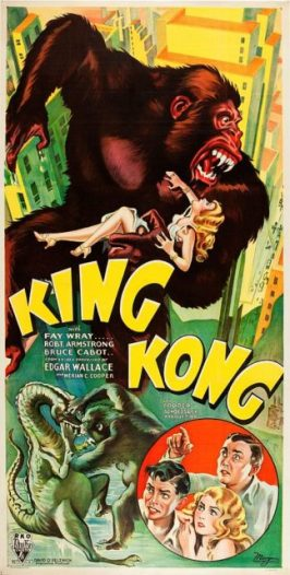 King Kong movie poster (Public Domain / Wikipedia)