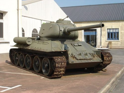 A T-34-85 tank at Musée des Blindés in the French town of Saumur Image Source: Antonov14 CC BY-SA 2.5