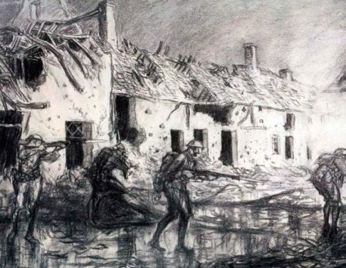 Mopping Up Cierges, 1918 by Wallace Morgan. U.S. Army Center of Military History/Wallace Morgan/Public Domain
