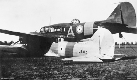 The sideview of the two Ansons just outside Brocklesby Image Source: Wikipedia / Public Domain
