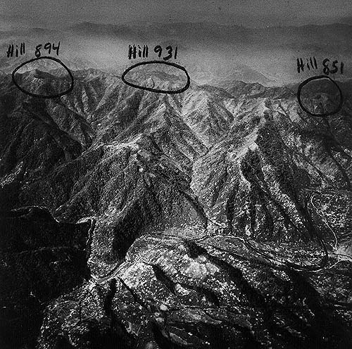Photo of Heartbreak Ridge via US Army Public Domain