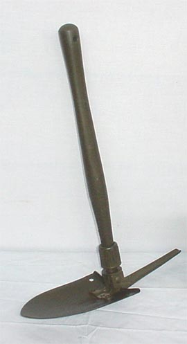 Korean era entrenching tool. it came with a pick as well, more than able to be used as a deadly weapon. Photo Source