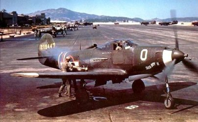 A Bell P-39Q-1-BE Airacobra at Hamilton Army Airfield in California in July 1943