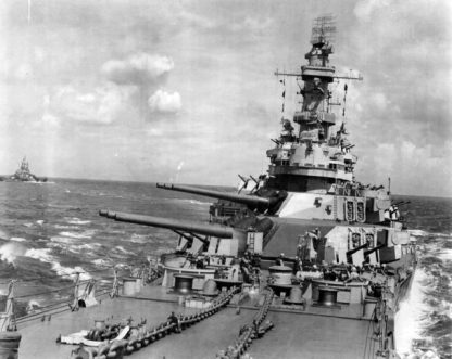 USS Iowa in the Pacific