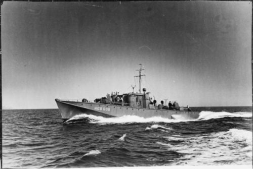 A Gun Boat variant of the Fairmile D Motor Launch, similar versions, though with fewer armaments, would have been supplied to the ASRS.