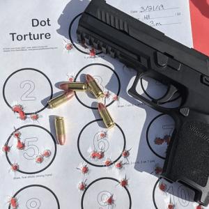 Dot torture pistol drill