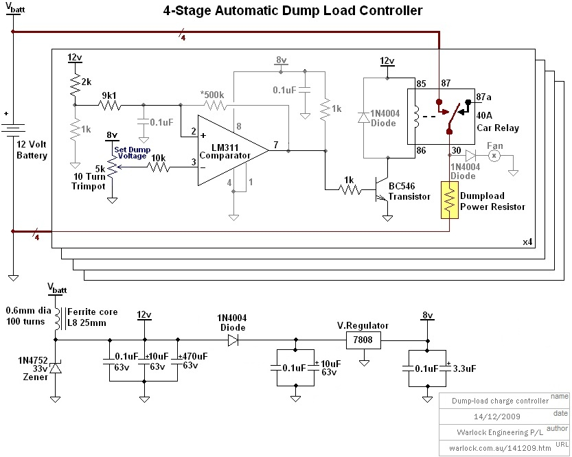 Design And Construction Of A Wind Turbine Dump Load Charge Controller