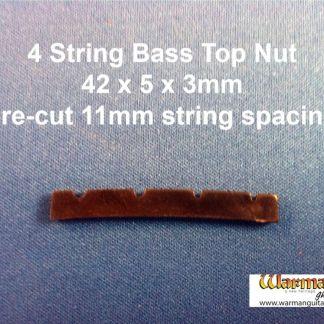 black plastic bass guitar top nut bridge 42x5x3mm