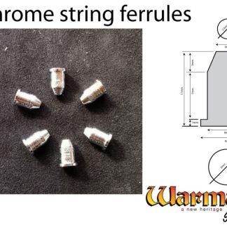 chrome string ferrules set of 6