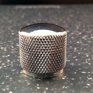 chrome 20mm diameter knurled metal guitar knob