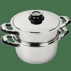 cuiseur vapeur en inox 18 10 diametre 24cm ecovitam