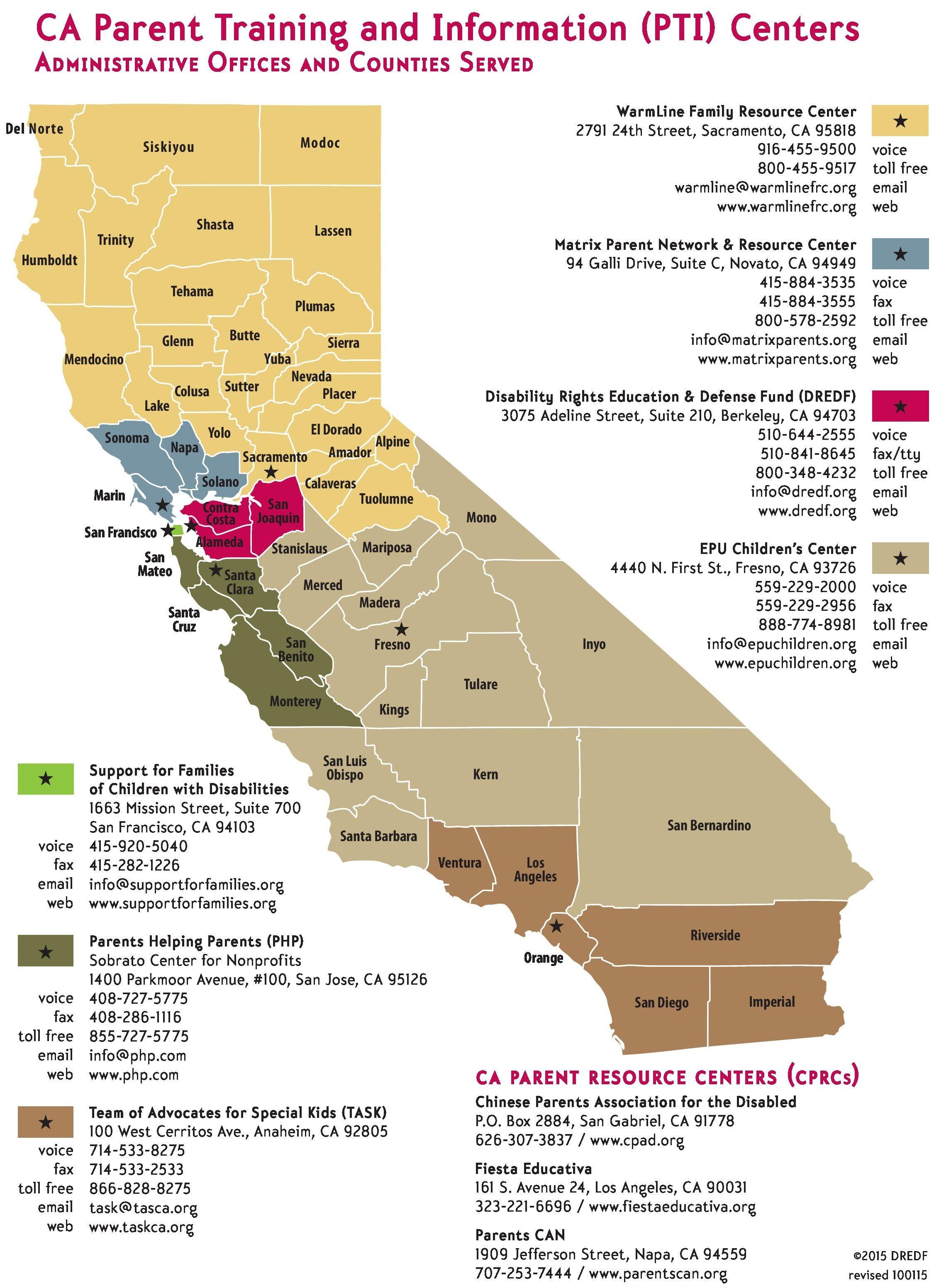 California Parent Organizations
