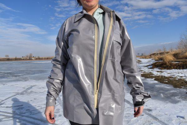 vapor barrier shirt zipper