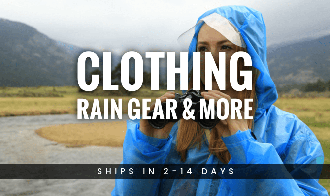 Expedition Outdoor Clothing, Rain Gear and More from Warmlite Ship in 2-14 Days