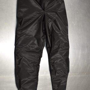 Black rain pants