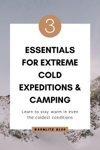 3 essentials for cold camping pin