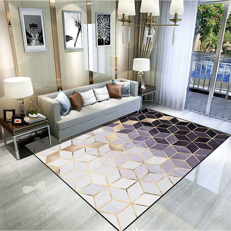 Modern Luxury Style Living Room Area Carpet Rugs   Warmly Home