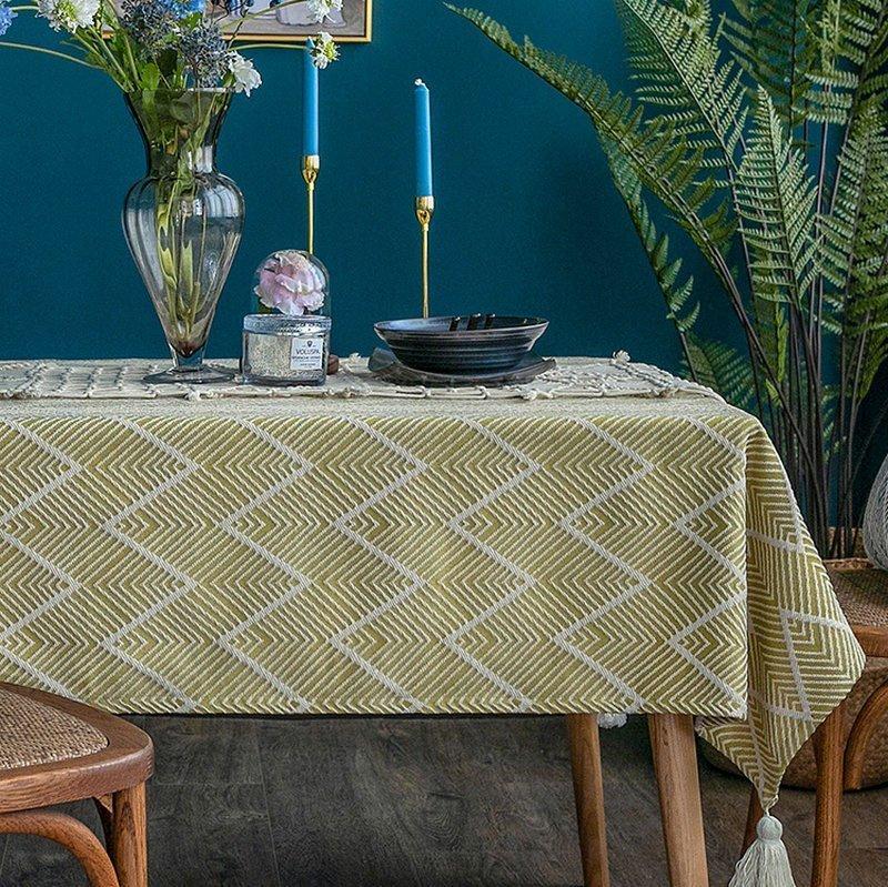 Table Desk Decoration Stripe Table Cloth