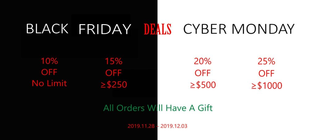 Deals for Black Friday Cyber Monday