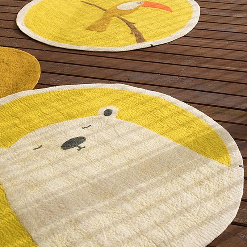 Lovely Cat Kids Plush Carpet
