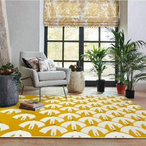 Living Room Creative Yellow Rug