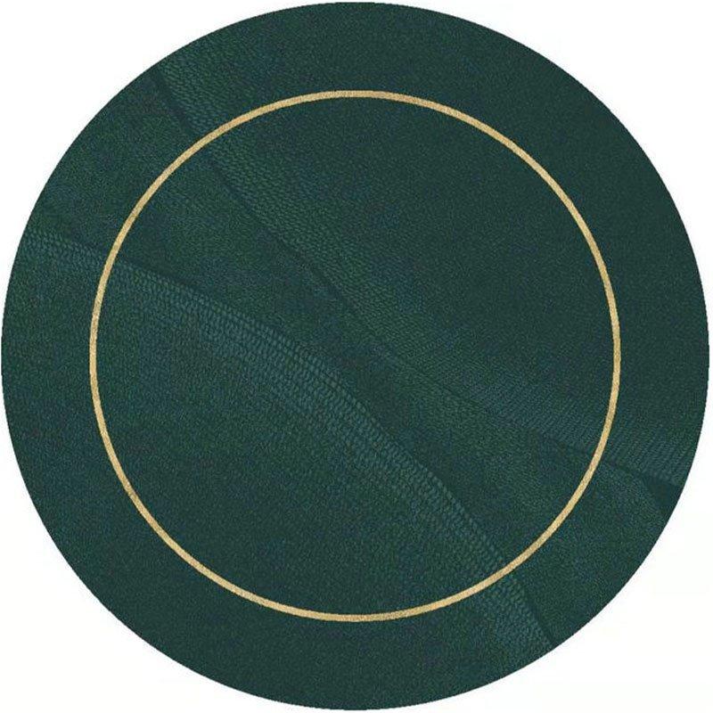 Green Round Rugs