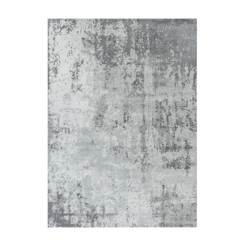 Living Room Grey Patterned Carpet