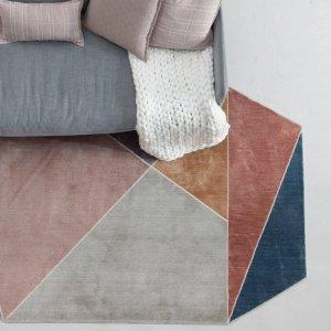 Irregular Shaped Geometric Art Rugs