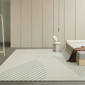 Modern Lined Rugs for Interior Decor