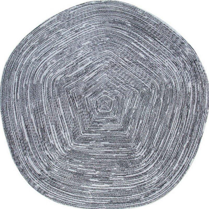 Round Grey Rug