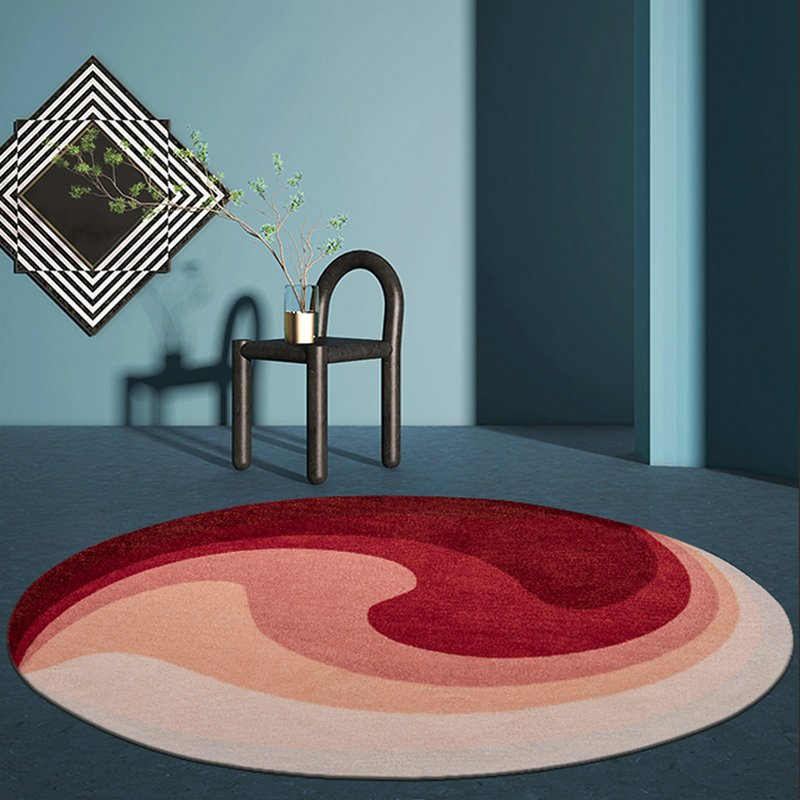 Round Abstract Rugs