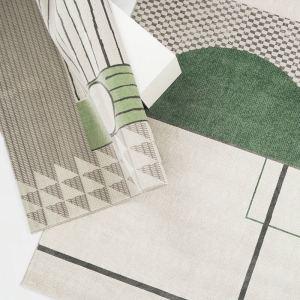 Geometric Green Rug