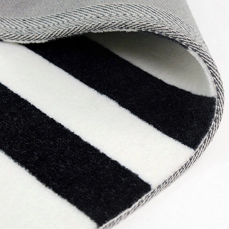 Geometric White And Black Rug