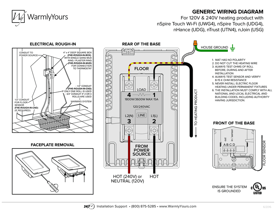 nSpiration Series Thermostat Wiring Diagram