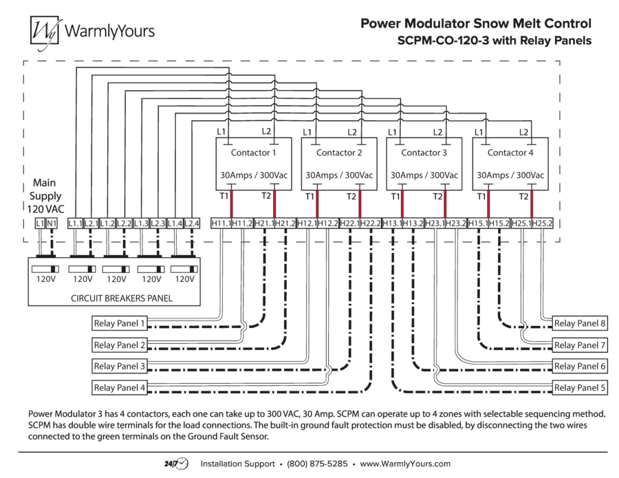 Power Modulator Snow Melt Control Wiring Diagram w/ Relay