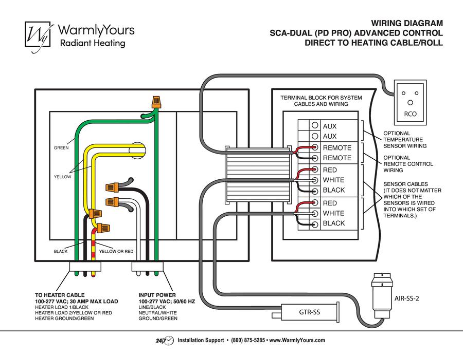 SCA-DUAL Controller Wiring Diagram