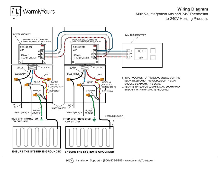 Generic Wiring Diagram Multiple Integration Kits 240V