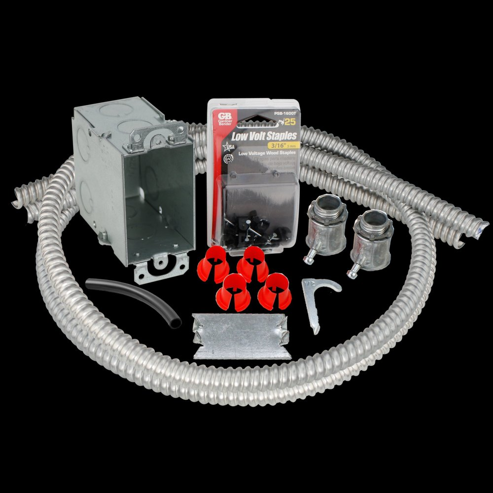 medium resolution of electrical rough in kit single gang box with double conduits for floor heating systems