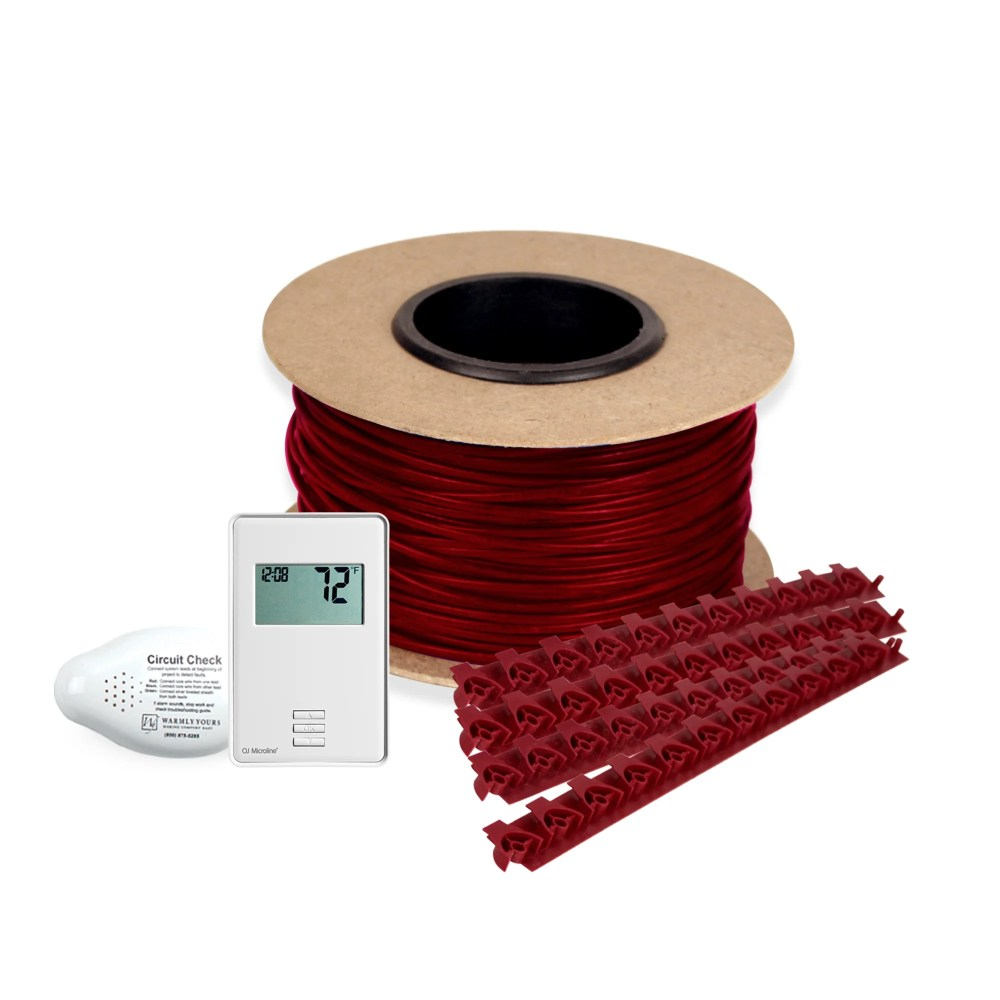 medium resolution of floor heating kit 120v tempzone cable system 30 non programmable thermostat tct120