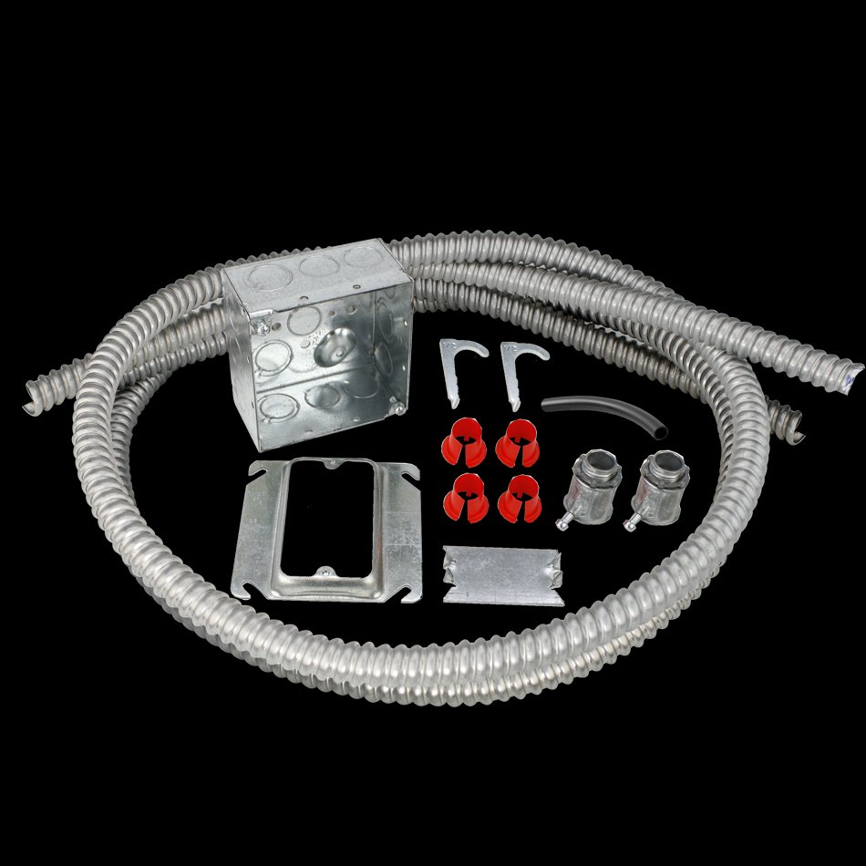 medium resolution of electrical rough in kit single gang box with double conduits