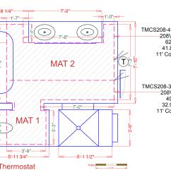custom radiant floor heating mat for a tile bathroom [ 2850 x 2136 Pixel ]