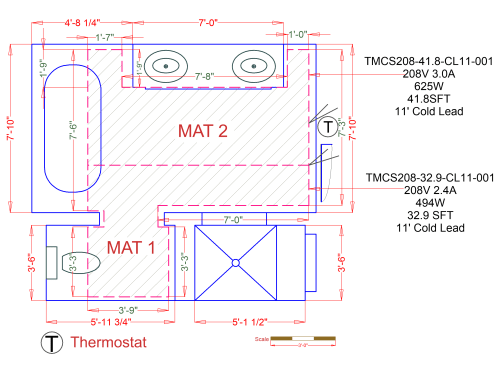 small resolution of custom radiant floor heating mat for a tile bathroom