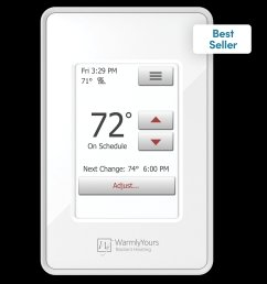 nspire touch programmable thermostat white  [ 2000 x 2000 Pixel ]